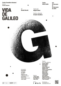 Vida de Galileo - Cartel